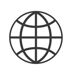 global sphere isolated icon vector image vector image