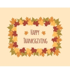 Greeting card for Thanksgiving Day with colorful vector image vector image