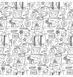Pirates seamless pattern vector