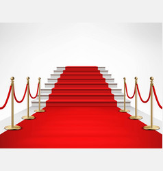 red carpet white stairs realistic vector image