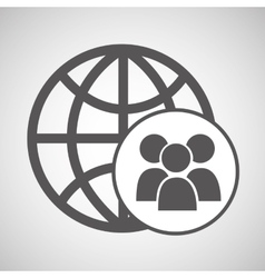 technology globe group media graphic vector image