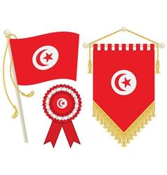 tunisia flags vector image