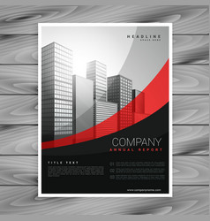 wavy red and black company brochure design vector image vector image