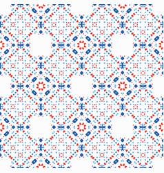 boho pattern blue red ethnic background vector image