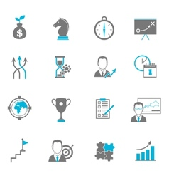 Business Strategy Planning Icons vector image vector image