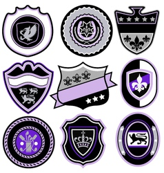 classic sport emblem badge set vector image vector image