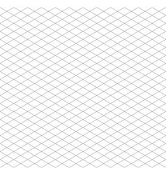 Gray isometric grid seamless pattern vector image