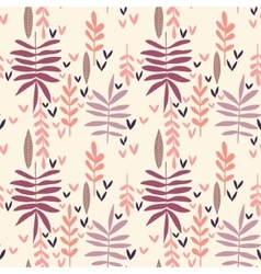 Hand-drawn vintage seamless leaf pattern vector