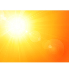 Vibrant hot summer sun vector image