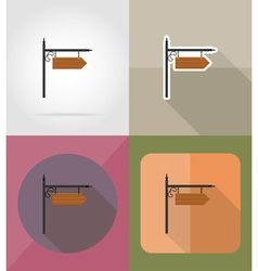 Wooden board flat icons 12 vector