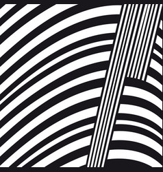 abstract black and white lines composition vector image