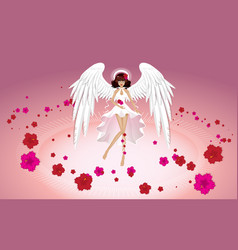 Angel of summer wallpaper vector
