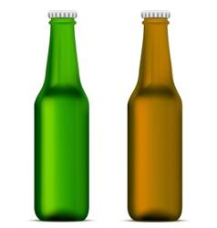 beer bottles vector image