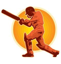 cricket player batsman batting vector image vector image