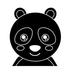 cute portrait panda bear animal baby with close vector image