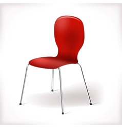 Plastic chair vector