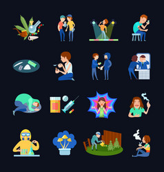 substance use images set vector image