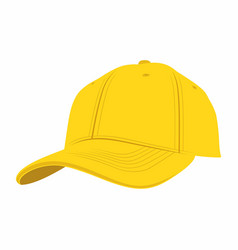 yellow baseball cap vector image vector image