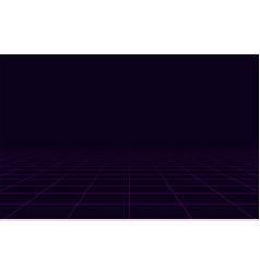 80s retro neon dance cyberpunk background vector image