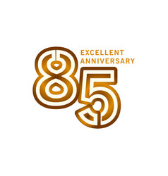 85 years excellent anniversary template design vector