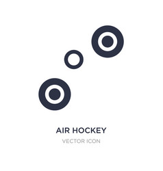 Air hockey icon on white background simple vector