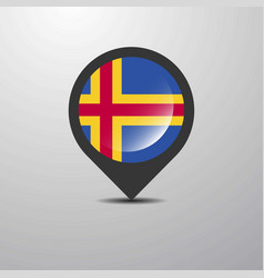 Aland map pin vector