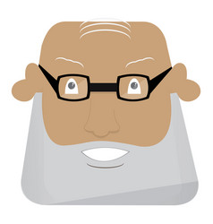 angry man avatar vector image