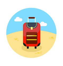 baggage icon travel summer vacation vector image