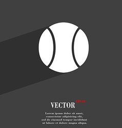 baseball symbol Flat modern web design with long vector image