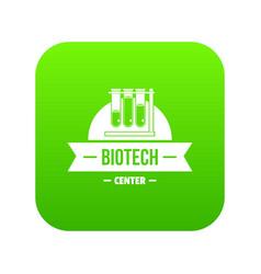 Biotech center icon green vector