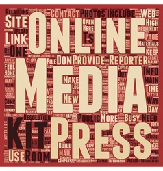Build a better online press kit text background vector