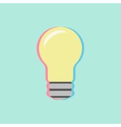 Bulb icon with colored shadow vector
