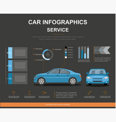 Car auto service infographics design vector
