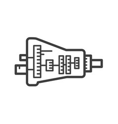 Car transmission assembly icon - gearbox symbol vector
