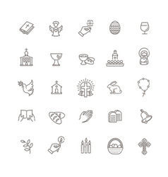 christianity icon set vector image