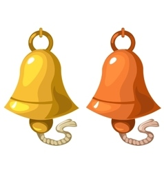 Classic bell on white background isolated vector