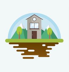 Classic house icon vector