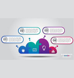 cloud design business infographics 4 steps options vector image