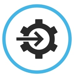 Cog Integration Flat Rounded Icon vector