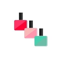 Colored nail polish flat icon vector