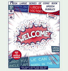 Comic book style poster vector