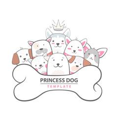 cutu funny dog - animal vector image