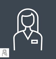 employee line icon vector image