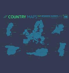 European union portugal sweden netherlands vector