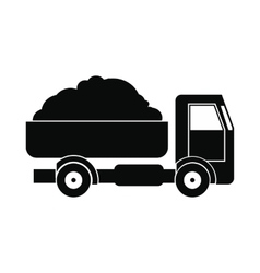Farmer truck icon vector image