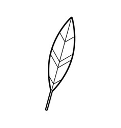 Feather ink isolated icon vector