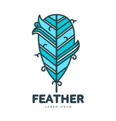 Feather logo template vector