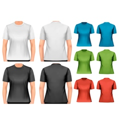 Female t-shirts Design template vector image
