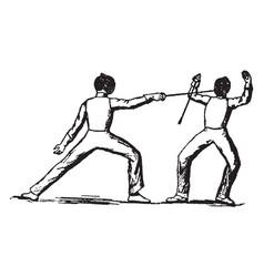 fencing vintage vector image