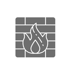 firewall grey icon isolated on white background vector image
